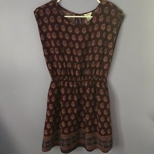 Forever 21 Maroon Boho Printed Tank Dress